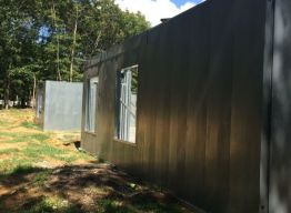 Rear wall of completed panels