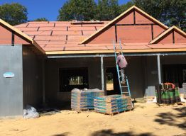 Roofing paper and shingles delivered; ready to be installed